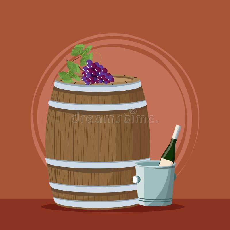Κρασί και οινοποιία διανυσματική απεικόνιση