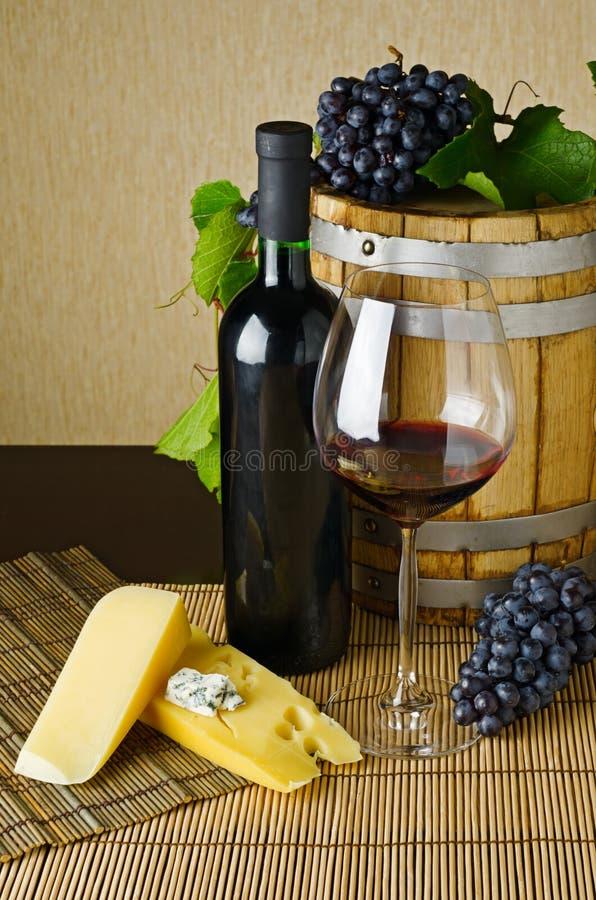 Κρασί και τυρί στοκ φωτογραφίες