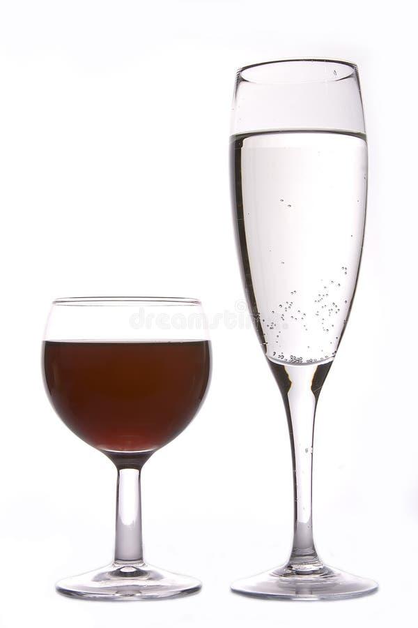 Κρασί και CHAMPAGNE στοκ φωτογραφίες με δικαίωμα ελεύθερης χρήσης
