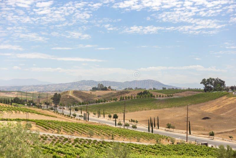 κρασί κοιλάδων βουνών χωρών στοκ εικόνες
