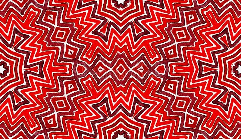Κρασί κόκκινο γεωμετρικό Watercolor Διασκέδαση άνευ ραφής PA απεικόνιση αποθεμάτων