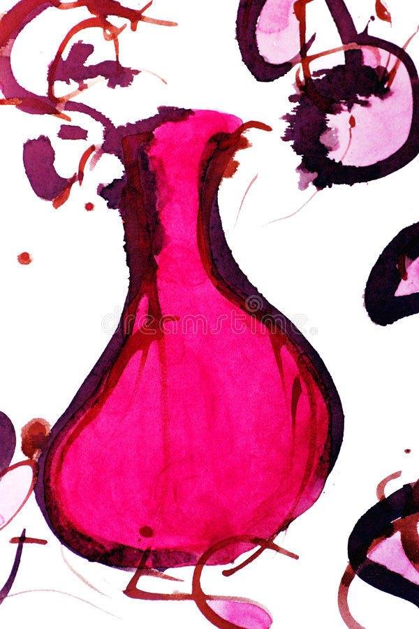 Download κρασί μπουκαλιών απεικόνιση αποθεμάτων. εικόνα από εμφιαλωτών - 106773