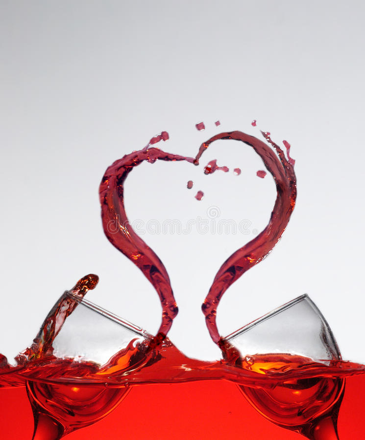 Κρασί παφλασμών αγάπης στοκ φωτογραφίες με δικαίωμα ελεύθερης χρήσης