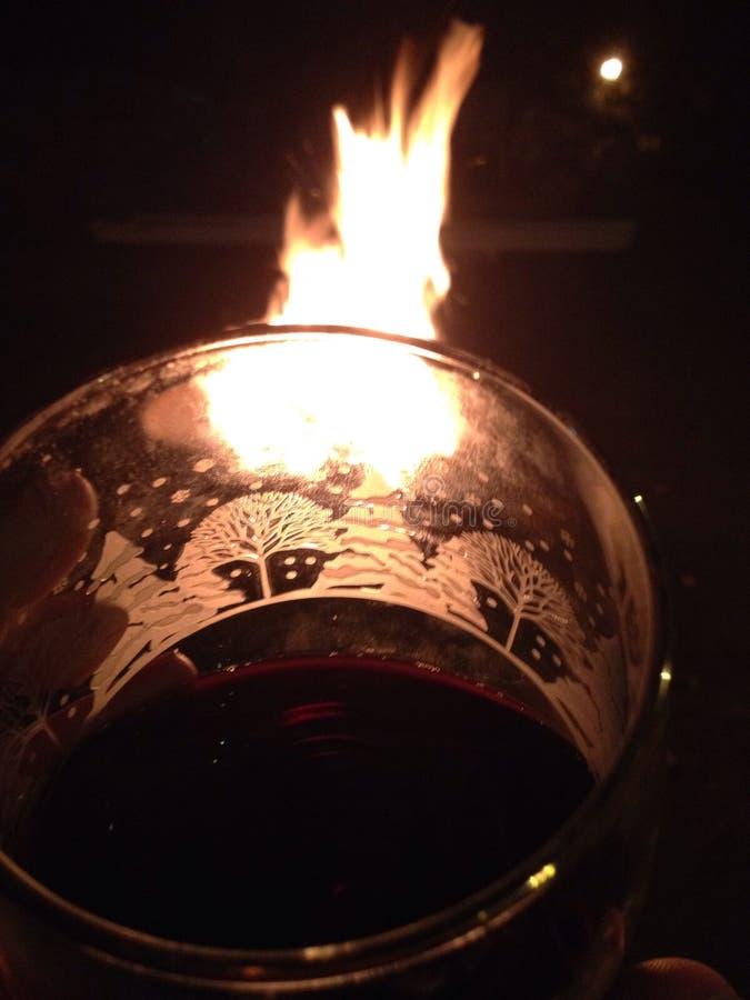 Κρασί πυρκαγιάς στοκ φωτογραφία