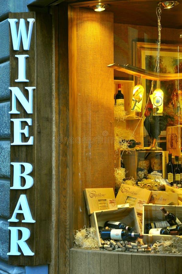 κρασί σημαδιών ράβδων στοκ εικόνα με δικαίωμα ελεύθερης χρήσης