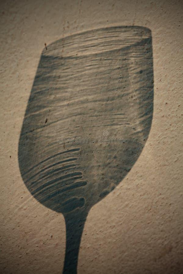 κρασί σκιών γυαλιού στοκ φωτογραφίες