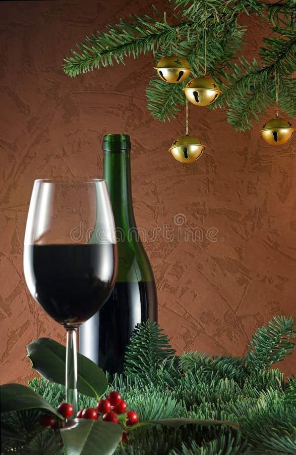 κρασί Χριστουγέννων στοκ φωτογραφία με δικαίωμα ελεύθερης χρήσης