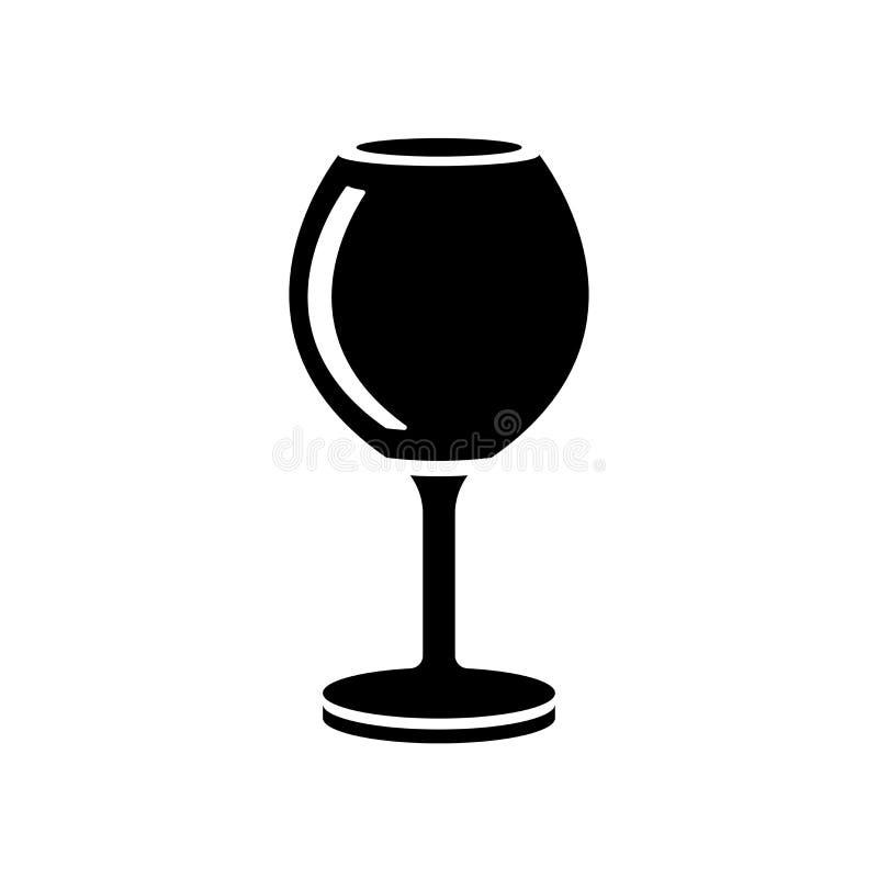 Κρασιού γυαλιού σημάδι και σύμβολο εικονιδίων διανυσματικό που απομονώνονται στο άσπρο backgro διανυσματική απεικόνιση