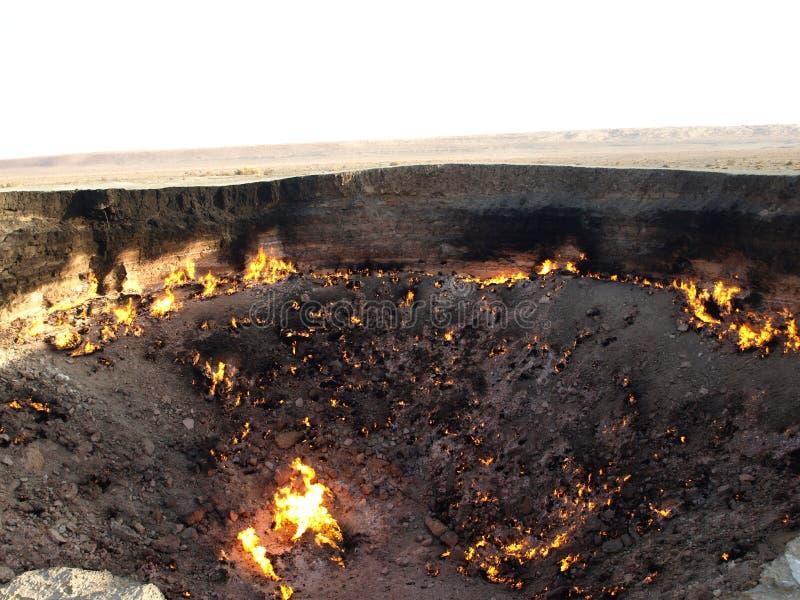 Κρατήρας αερίου Darvaza, Τουρκμενιστάν στοκ φωτογραφία με δικαίωμα ελεύθερης χρήσης
