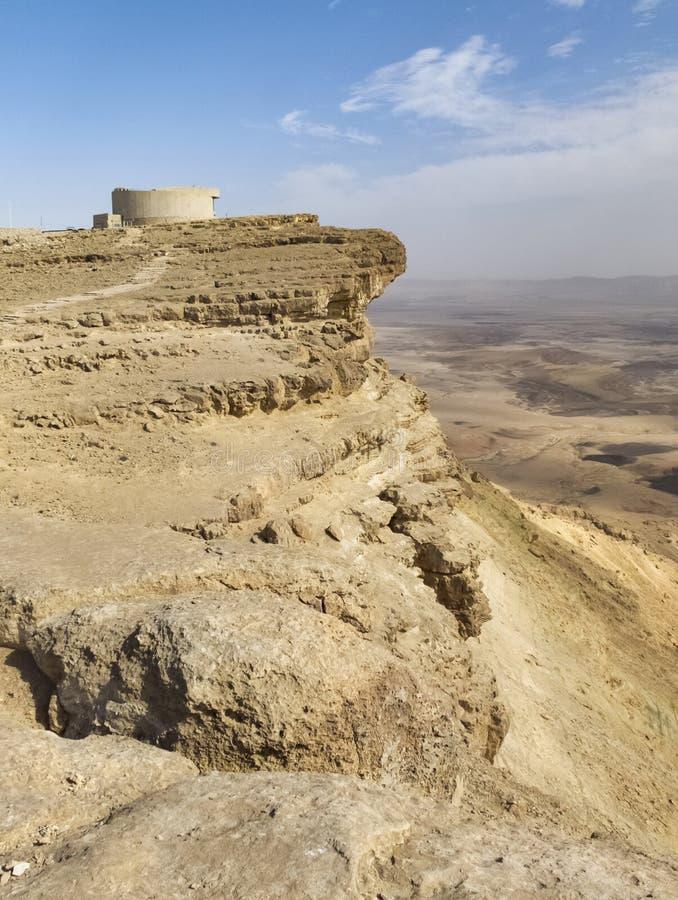 Κρατήρας του Ramon Makhtesh στο Χάιλαντς Negev στο Ισραήλ στοκ εικόνες