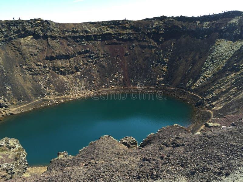 Κρατήρας Kerið στοκ εικόνες