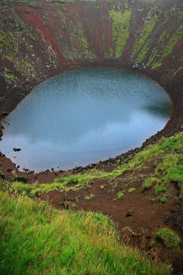 κρατήρας kerid ηφαιστειακός στοκ φωτογραφίες