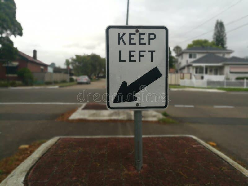 Κρατήστε αριστερά στοκ φωτογραφία