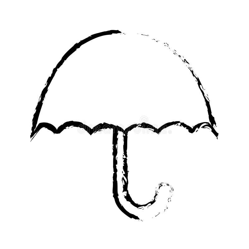Κρατήστε ξηρός προστατεύει το φορτίο από το υπερβολικό σύμβολο υγρασίας που απομονώνεται στο άσπρο υπόβαθρο διανυσματική απεικόνιση