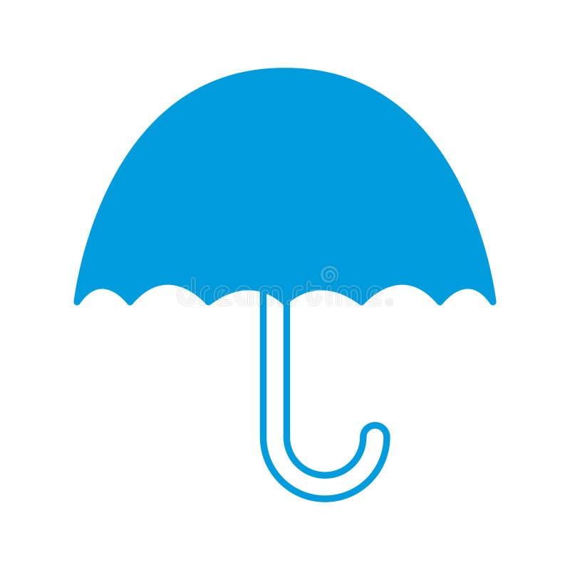 Κρατήστε ξηρός προστατεύει το φορτίο από το υπερβολικό σύμβολο υγρασίας που απομονώνεται στο άσπρο υπόβαθρο ελεύθερη απεικόνιση δικαιώματος