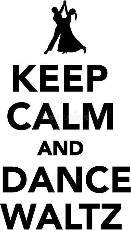 Κρατήστε το ήρεμο και βαλς χορού διανυσματική απεικόνιση