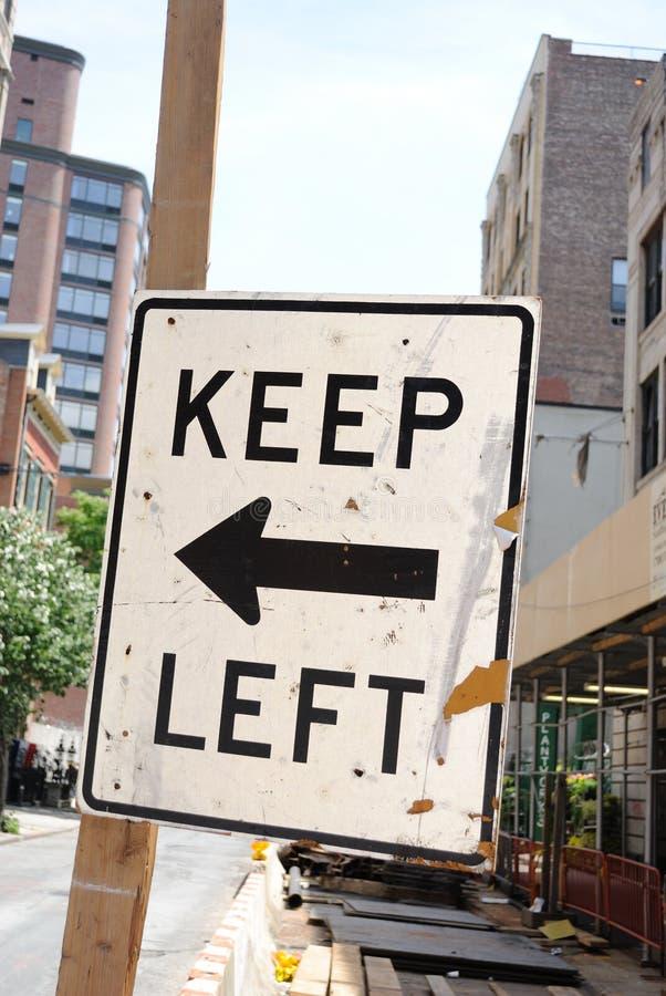 κρατήστε το αριστερό οδι στοκ φωτογραφίες με δικαίωμα ελεύθερης χρήσης