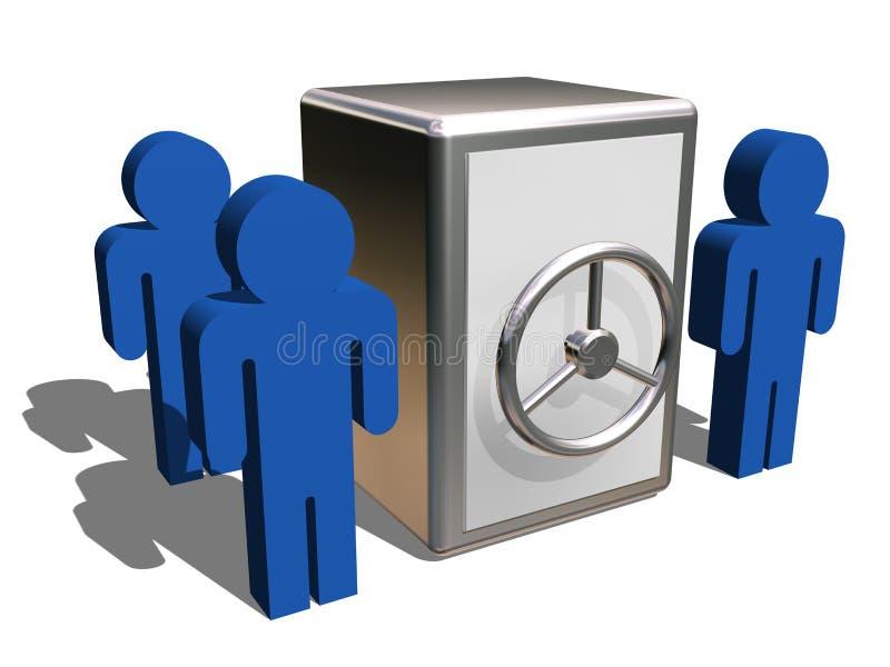 κρατήστε το χρηματοκιβώτ&io απεικόνιση αποθεμάτων