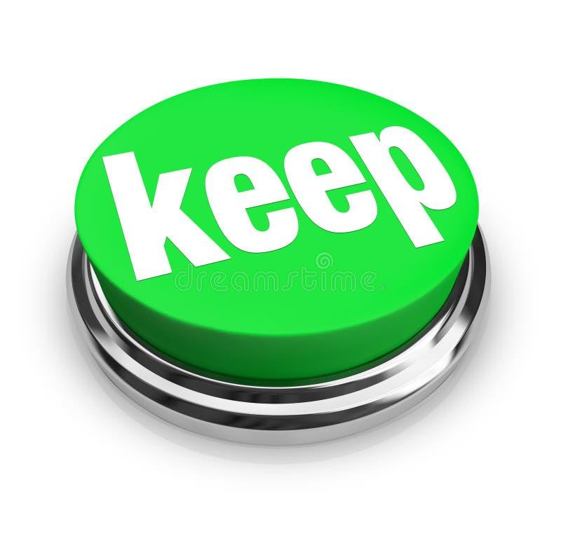 Κρατήστε το Word που το πράσινο τρισδιάστατο κουμπί διατηρεί τη λαβή επάνω συλλέγει τη συσσώρευση απεικόνιση αποθεμάτων