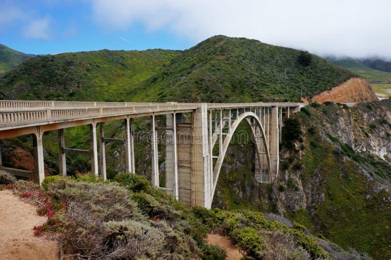 Κρατική διαδρομή Hwy γεφυρών Bixby 1 Καλιφόρνια κανένα αυτοκίνητο στοκ φωτογραφία