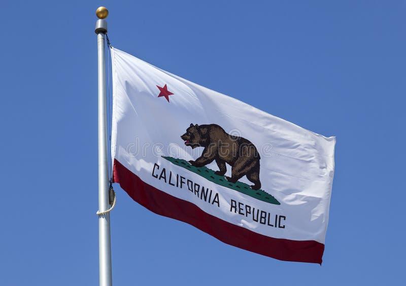 Κρατική σημαία Δημοκρατίας Καλιφόρνιας στοκ εικόνα