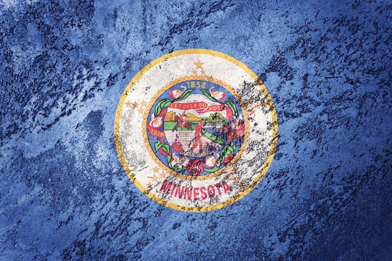 Κρατική σημαία Μινεσότας Grunge Υπόβαθρο σημαιών Μινεσότας grunge te στοκ φωτογραφίες με δικαίωμα ελεύθερης χρήσης