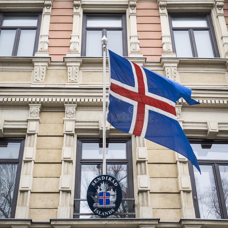 Κρατική σημαία της Ισλανδίας στοκ εικόνα με δικαίωμα ελεύθερης χρήσης