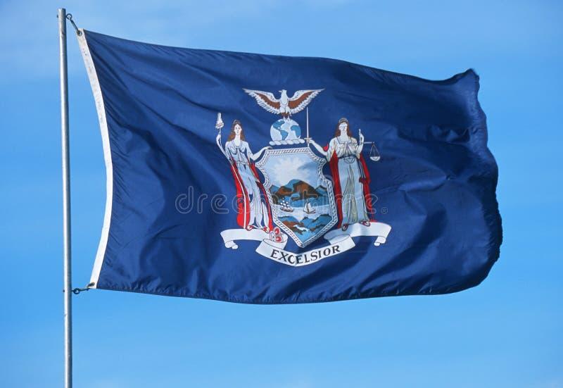 Κρατική σημαία της Νέας Υόρκης στοκ εικόνα με δικαίωμα ελεύθερης χρήσης
