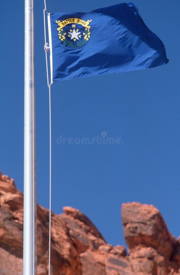 Κρατική σημαία της Νεβάδας στοκ φωτογραφία με δικαίωμα ελεύθερης χρήσης