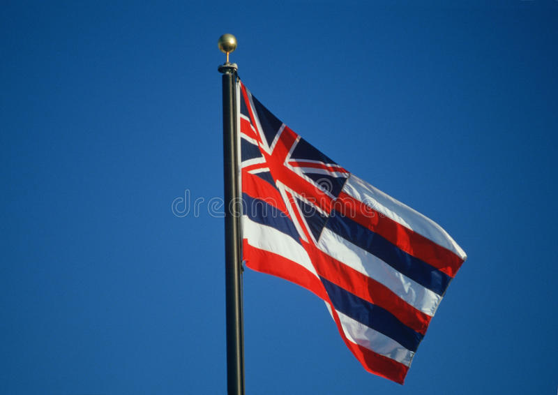 Κρατική σημαία της Χαβάης στοκ φωτογραφία