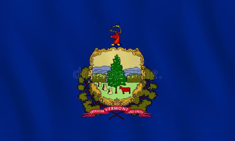 Κρατική σημαία του Βερμόντ ΗΠΑ με την επίδραση κυματισμού, επίσημη αναλογία ελεύθερη απεικόνιση δικαιώματος