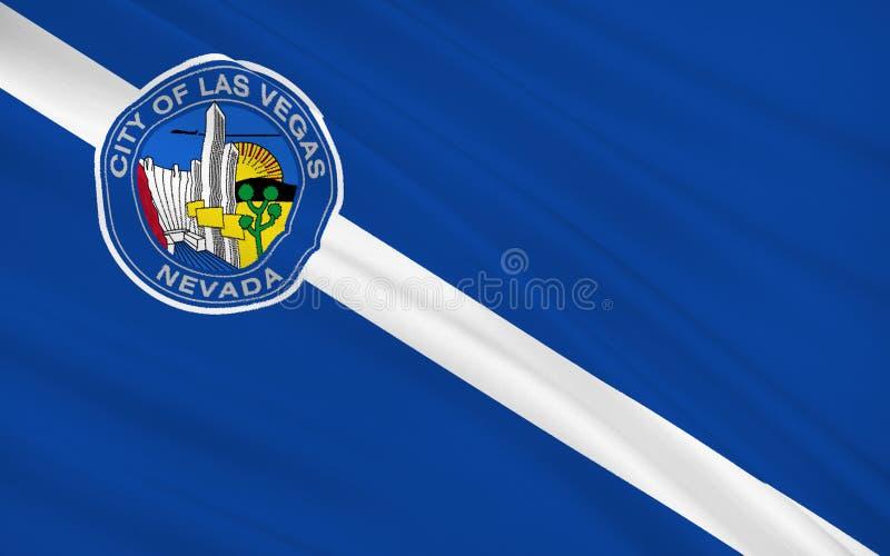 Κρατική σημαία του Λας Βέγκας - μια πόλη στις δυτικές Ηνωμένες Πολιτείες, ι διανυσματική απεικόνιση
