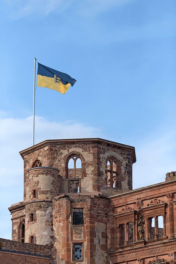 Κρατική σημαία του Baden Wuerttemberg στοκ εικόνες