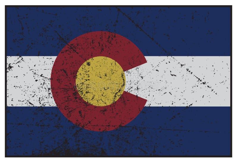 Κρατική σημαία Grunged του Κολοράντο στοκ εικόνες με δικαίωμα ελεύθερης χρήσης