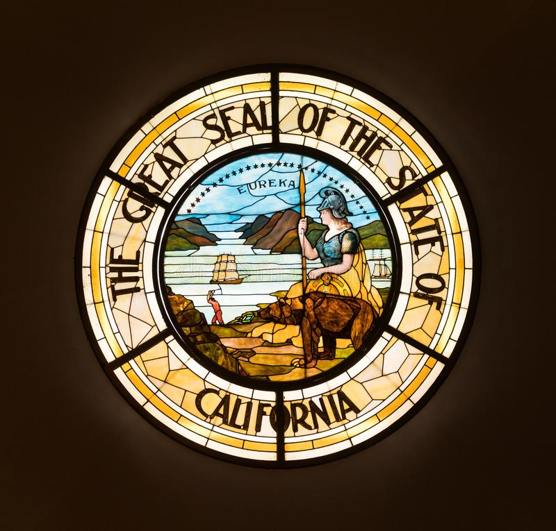 Κρατική σφραγίδα Καλιφόρνιας στοκ φωτογραφία με δικαίωμα ελεύθερης χρήσης