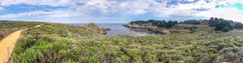 Κρατική φυσική επιφύλαξη Lobos σημείου, Καλιφόρνια Πανοραμική άποψη στοκ φωτογραφία με δικαίωμα ελεύθερης χρήσης