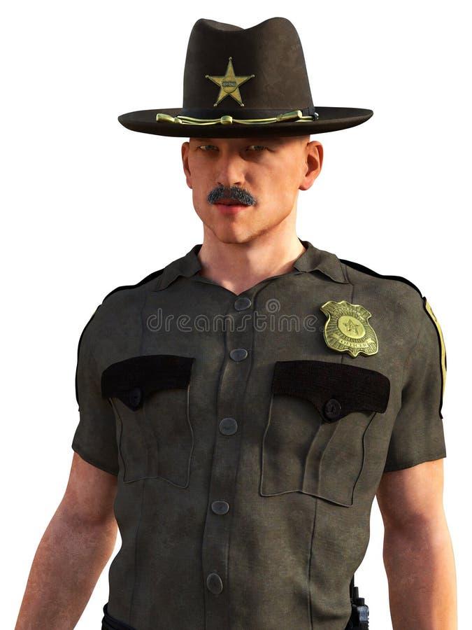 Κρατικός στρατιώτης ιππικού, αστυνομία, σπόλα, που απομονώνεται στοκ εικόνες με δικαίωμα ελεύθερης χρήσης