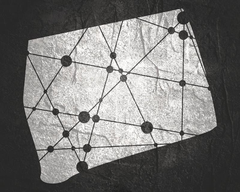 Κρατικός χάρτης του Κοννέκτικατ στοκ φωτογραφία με δικαίωμα ελεύθερης χρήσης