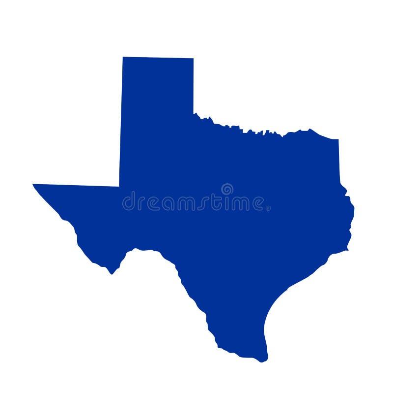 Κρατικός χάρτης του Τέξας διανυσματική απεικόνιση