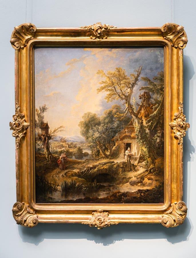 Κρατικό μουσείο των Καλών Τεχνών που ονομάζονται μετά από ΩΣ Pushkin - FRANCOIS BOUCHER, ΤΟΠΊΟ ΜΕ έναν ΕΡΗΜΊΤΗ απεικόνιση αποθεμάτων