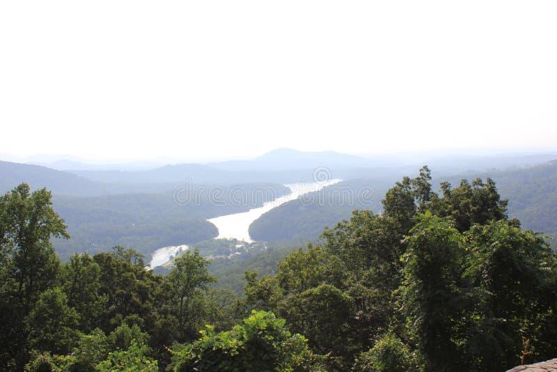 Κρατικό πάρκο βράχου καπνοδόχων, βόρεια Καρολίνα στοκ εικόνα