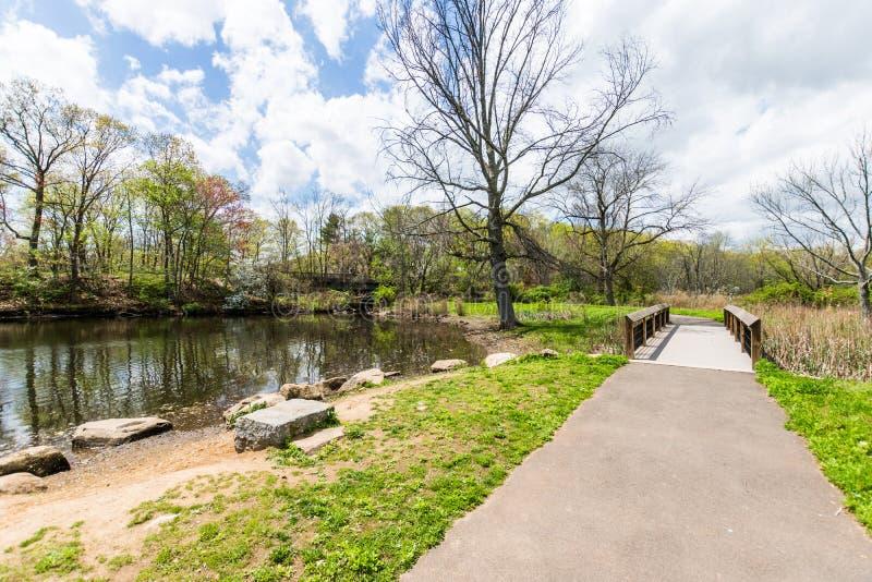 Κρατικό πάρκο Edgewood στο Νιού Χάβεν Κοννέκτικατ στοκ εικόνες