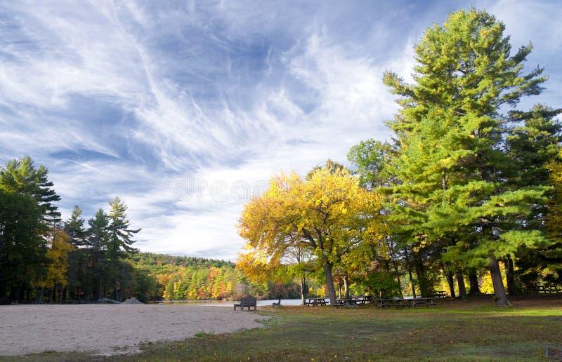 Κρατικό πάρκο Torrington Κοννέκτικατ λιμνών σαλιασμάτων στοκ φωτογραφία
