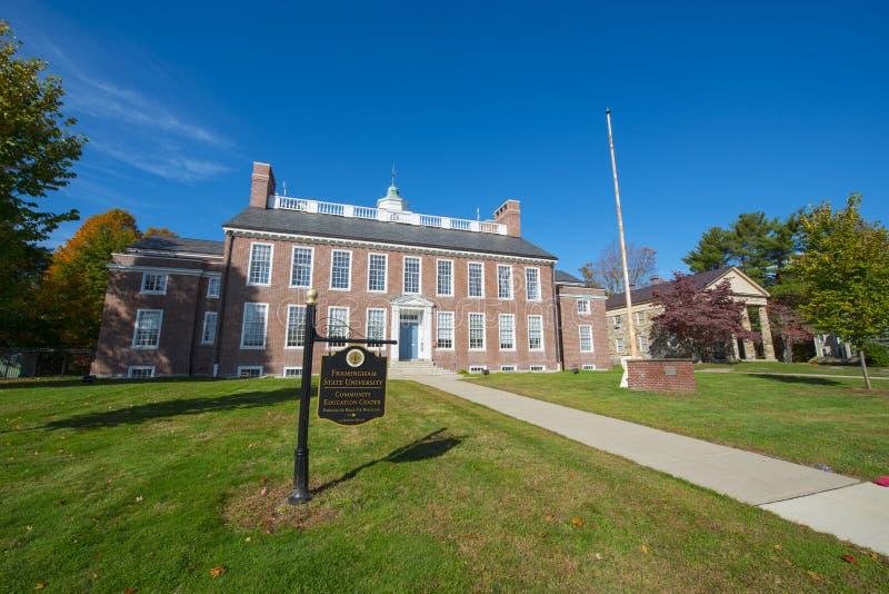 Κρατικό πανεπιστήμιο Framingham, Μασαχουσέτη, ΗΠΑ στοκ εικόνα
