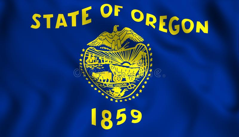 Κρατικό σύμβολο του Όρεγκον ΗΠΑ σημαιών ελεύθερη απεικόνιση δικαιώματος