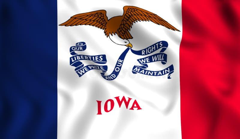 Κρατικό σύμβολο του Iowa ΗΠΑ σημαιών ελεύθερη απεικόνιση δικαιώματος