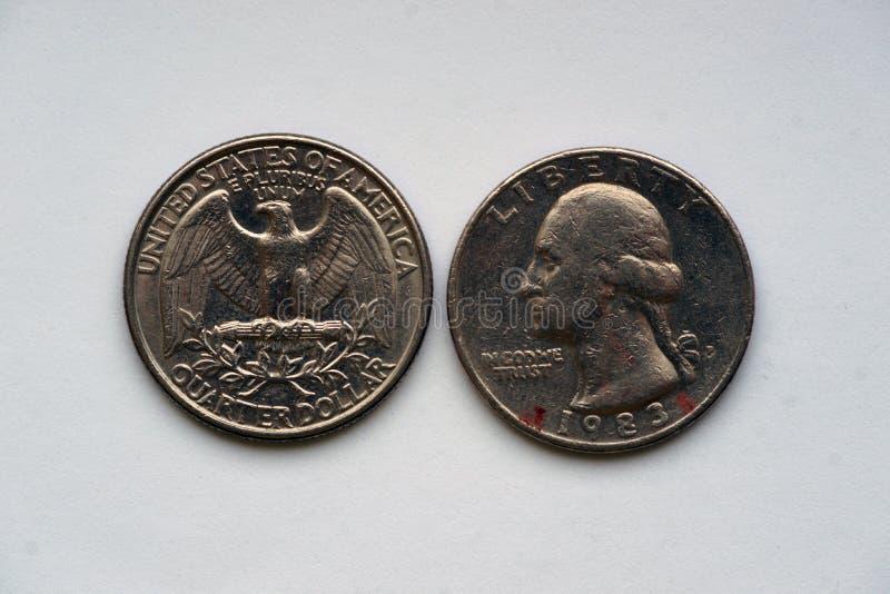 Κρατικό τέταρτο 25 σεντ - 1/4 δολάριο ΗΠΑ στοκ εικόνα