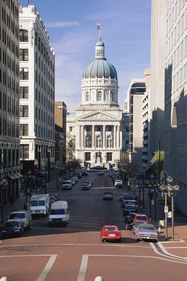 Κρατικό capitol της Ινδιανάπολης στοκ φωτογραφία με δικαίωμα ελεύθερης χρήσης