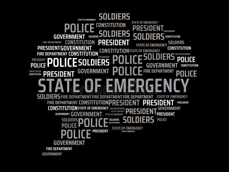 ΚΡΑΤΟΣ της ΕΚΤΑΚΤΗΣ ΑΝΆΓΚΗΣ - εικόνα με τις λέξεις που συνδέονται με το ΚΡΑΤΟΣ θέματος της ΕΚΤΑΚΤΗΣ ΑΝΆΓΚΗΣ, λέξη, εικόνα, απεικό ελεύθερη απεικόνιση δικαιώματος