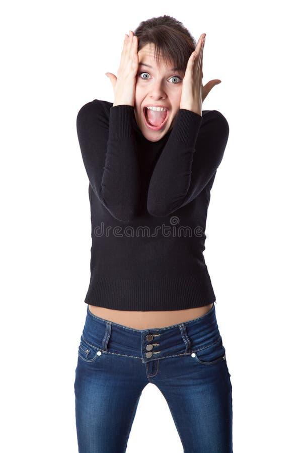 Download κραυγάζοντας νεολαίες γυναικών Στοκ Εικόνα - εικόνα από εκφοβισμένος, στόμα: 22782991